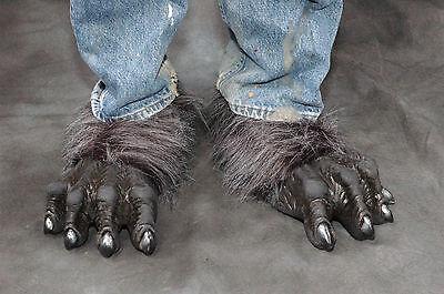 Gray Werewolf Killer Wolf Monster Feet Adult Shoe x Latex Halloween - Grey Werewolf Feet