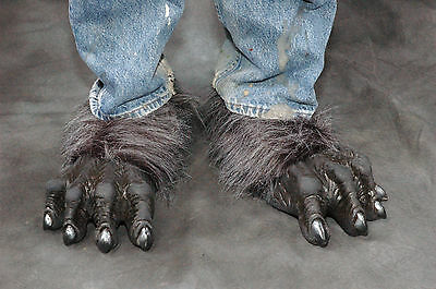 Gray Werewolf Killer Wolf Monster Feet Adult Shoe x Latex Halloween Costume