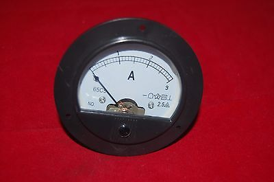 Dc 0-3a Round Analog Ammeter Panel Amp Current Meter Dia. 90mm Direct Connect