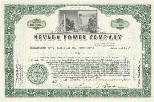 Nevada Power Company Stock Certificate