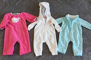 Carter's 3M Fleece Jumpsuits