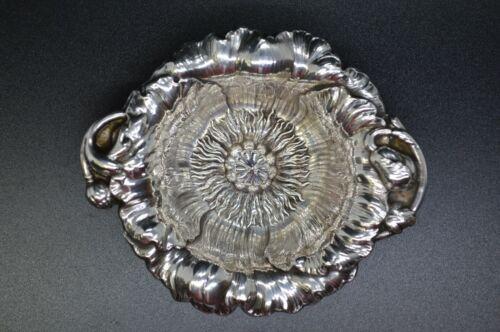 "Reed & Barton Les Cinq Fleurs Poppy Sterling Silver Nut Dish X403 - 3 1/2"" - 33g"