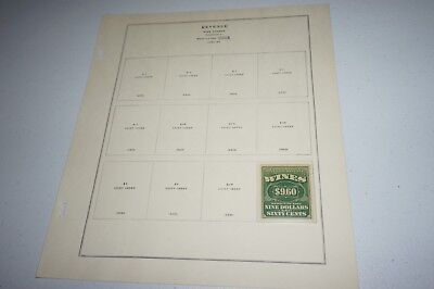 US STOCK TRANSFER STAMPS WINES STAMPS 1933 SC# RE83 RE3 - $9.60  - MNH