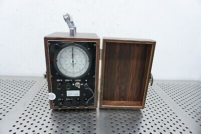 Vintage Standard Electric Co. Timer Pg E In Wooden Case