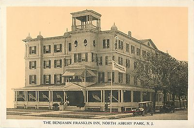 A View Of The Benjamin Franklin Inn  20S Auto  North Asbury Park Nj