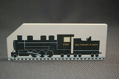 Mikado 1992 Class Locomotive Heritage Village Cats Meow Wooden Shelf Sitter