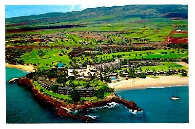 Kaanapali Beach, Maui, Hawaii (Sheraton Maui Hotel Hawaii Postcard Kaanapali Beach Royal Golf Course Aerial )
