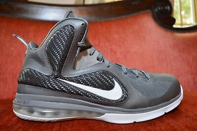 CLEAN NIKE LEBRON 9 Elite COOL GREY SIZE 11 469764-007 IX OG ALL White