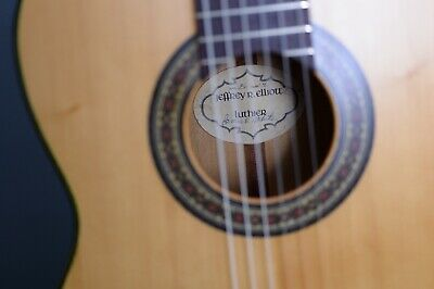 Classical Guitar Spruce  Jeffrey R. Elliott Label and Signed by James White 1976
