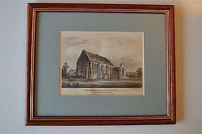 ORIGINAL ANTIQUE FRAMED PRINT ABER HONDDU BRECKNOCKSHIRE WALES CIRCA.1815 7