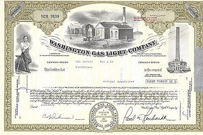 Washington Gas Light Company     1977 Stock Certificate