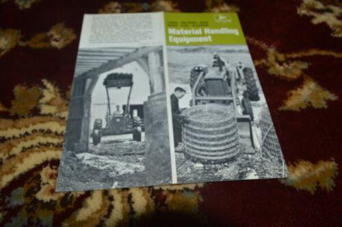 John Deere Material Handling Equipment For 1967 Brochure FCCA