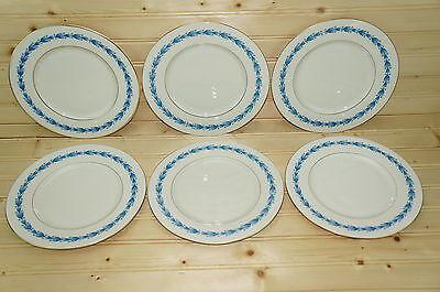 """Castleton Classic Blue (6) Salad Plates 8 3/8"""""""