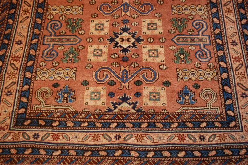 C 1930s Antique Caucasian Shirvan Design Turkish Rug  4.8x7 All Wool_  Exclusive