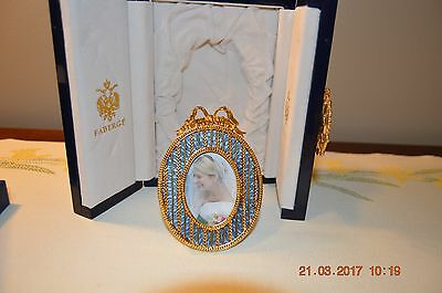 FABERGE-Guilloche-Enamel-Oval-Cradle-Picture-Frame-NEW-in-Box
