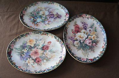 "Lena Liu Oval Plates ""Lena Liu's Floral Cameos"" (set of 3)"