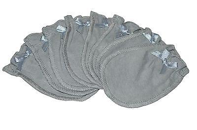 Soft Gray - 4 Pairs Cotton Newborn Baby/infant No Scratch Mittens Gloves
