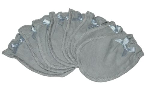 Soft Gray - 4 Pairs Cotton Newborn Baby/infant No Scratch Mittens Gloves