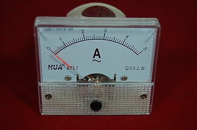 Ac 5a Analog Ammeter Panel Amp Current Meter 85c1 0-5a Ac Directly Connected