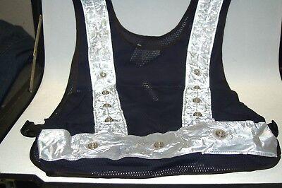 Led Light Safety Vest Reflective Stripes Traffic Warning Mesh Adjustable 16 Led