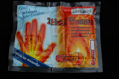 2 Pack Hand Warmers Hot Disposable Pocket Glove Instant Fishing Skiing Heat Pads