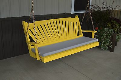 Classic Outdoor 6 Foot Fanback Porch Swing *9 Paint Colors*  6 Ft swing USA