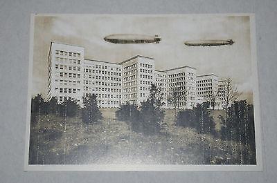 Deutsches Reich DR Flug Postkarte *Zeppeline über IG Farben Haus Frankfurt* /ND