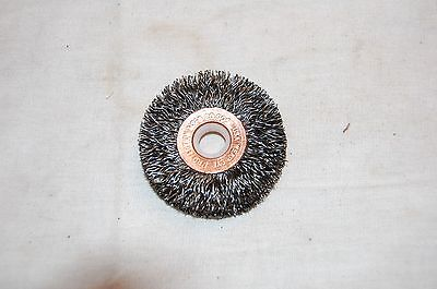 Weiler 2 Crimped Wire Wheel .014 Wire 38-12 Arbor 15473