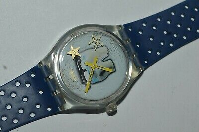 Swatch Watch Musicall SLZ105 KATARINA WITT Olympic Specials Swiss 1996 Vintage