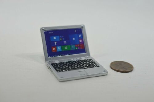 Miniature Laptop Computer Recreation in 1:12 doll scale