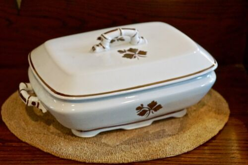 Royal Ironstone Alfred Meakin England Covered Casserole Tea Leaf Copper Luster