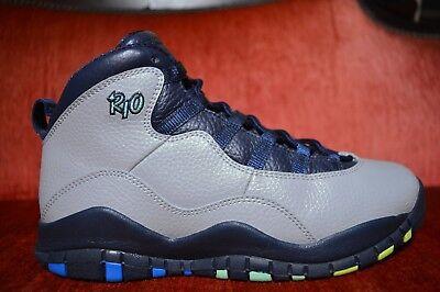 Nike Air Jordan 10 X Retro Rio Gs Big Kids 310806-019 Grey Obsidian Shoes Size 6