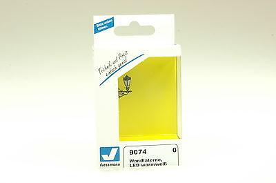 Viessmann 9074 Spur 0 Wandlaterne LED warmweiß NEU und OVP
