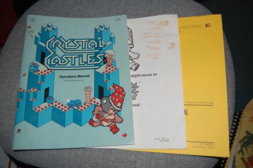 Atari Crystal Castles Arcade Video Game Manual Set!