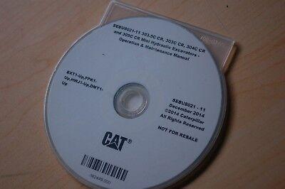Cat Caterpillar 303.5c 303c 304c 305c Excavator Owner Operation Operator Manual