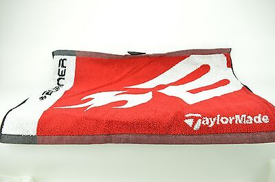 16 x 24 New Taylormade Burner 100% cotton Golf Towel  with Twill Tape hang loop
