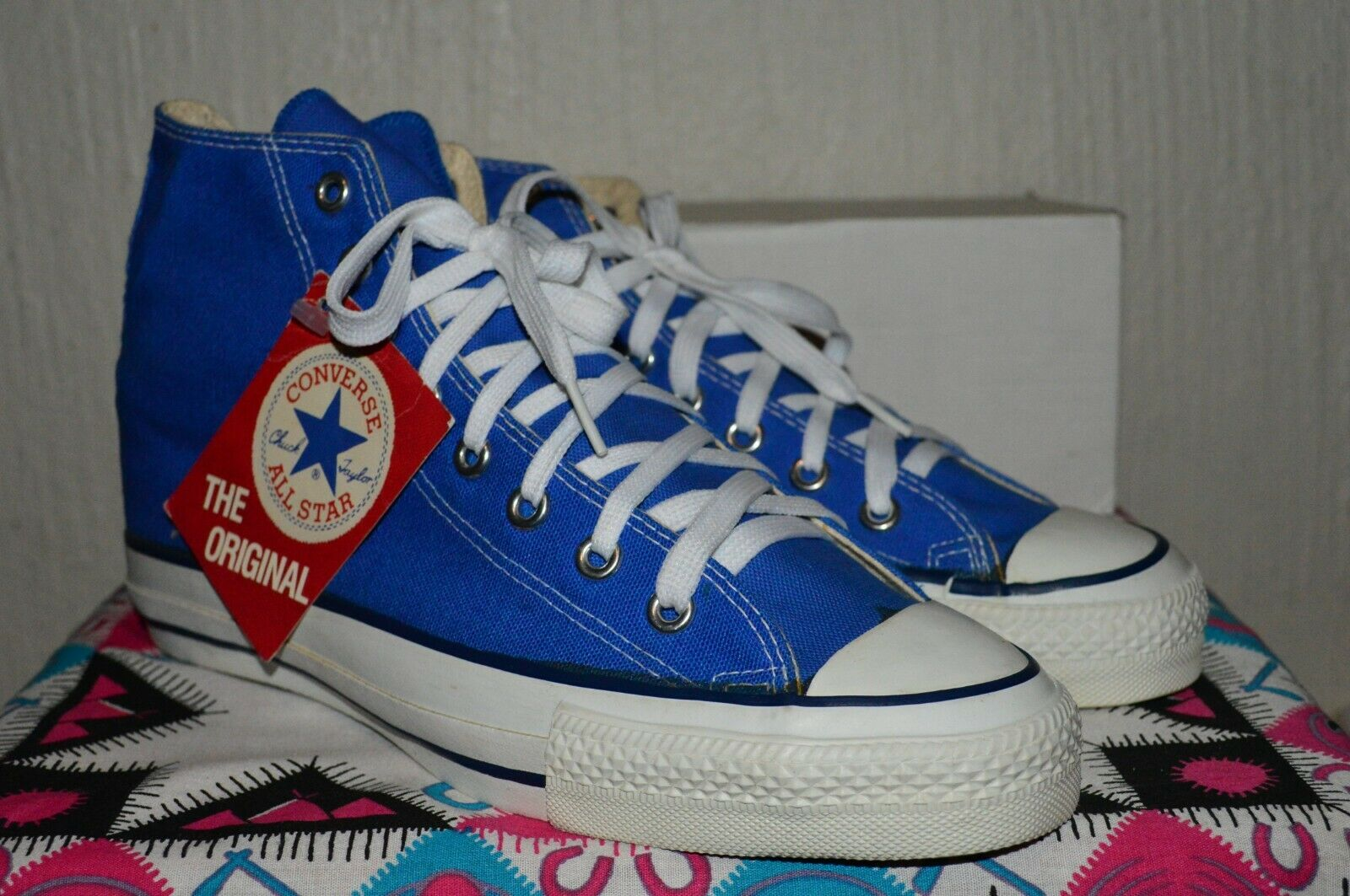 Converse All Star 80's Extra Stitch Vintage Rare Deadstock OG MADE IN USA 8 NWOB