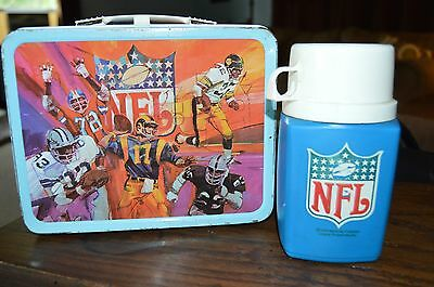 VINTAGE KING SEELY 1978 NFL LUNCHBOX AND THERMOS