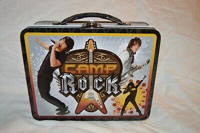 Camp Rock gray and black Tin Lunch Box Camp Rock Lunch Box
