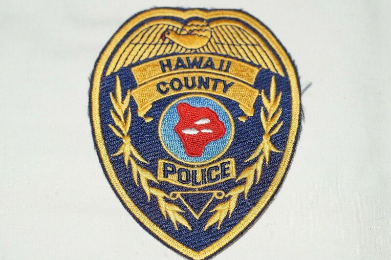 US Hawaii County Hawaii Police Patch