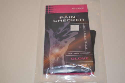 Pain Checker Glove All Natural Releif New Carbon Technology-New