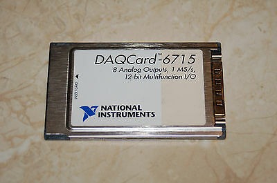 National Instruments Daqcard-6715 Ni Daq Card Pcmcia Analog Output