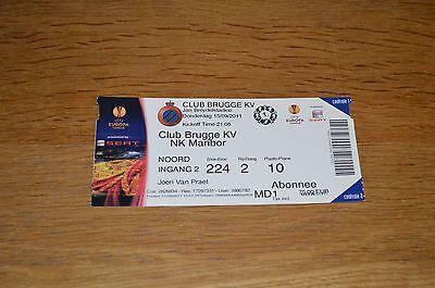 Ticket Club Brugge KV - NK Maribor 15-09-2011 (UEFA Europa League)