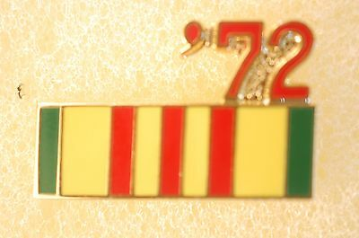 US USA '72 Vietnam Veteran Military Hat Lapel Pin