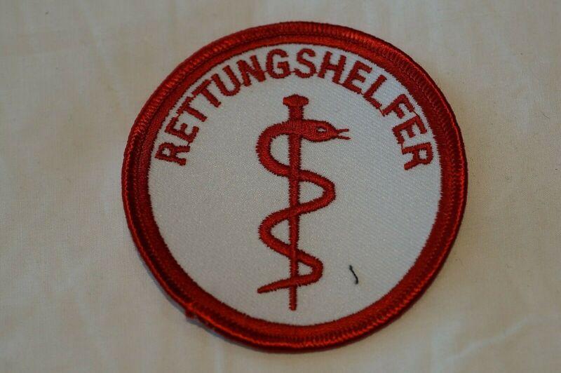 German Rescue Helper Rettungshelfer Patch Obsolete