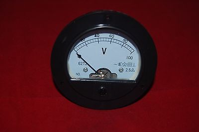Ac 0-100v Round Analog Voltmeter Voltage Panel Meter Dia. 90mm Directly Connect