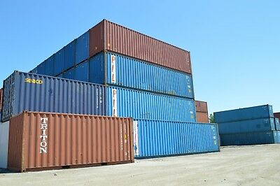 40 Footft High Cube Steel Cargo Intermodal Shipping Container Cleveland Ohio