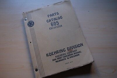 Koehring 605-1b Crawler Trackhoe Excavator Parts Manual Book Catalog Spare List