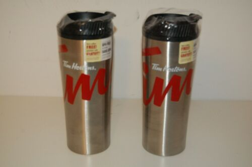 2 X Brand New Tim Hortons 2016 Stainless Steel Coffee Travel Mug Tumbler 8.5""