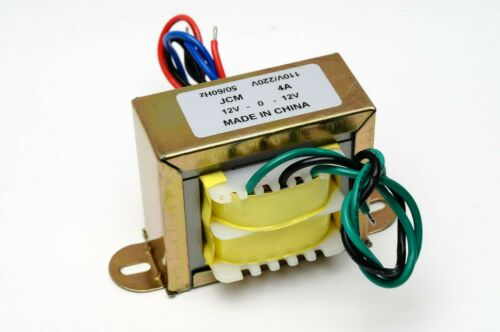 110/220VAC to 24VAC 4000mA 4A Center Tap Power Transformer 12V-0-12V 24VAC 12Vx2